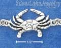 "Sterling Silver 7"" Continuous Linked Crab Bracelet"