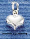 Sterling Silver High Polish Small Puffed Heart Charm