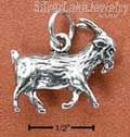 Sterling Silver Three Dimensional Billy Goat Charm