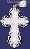 Sterling Silver DC Cross Charm Pendant