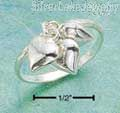 Sterling Silver Three Heart Charm Ring Size 6